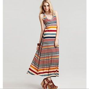 Sam & Lavi Striped Sleeveless Maxi Dress Medium